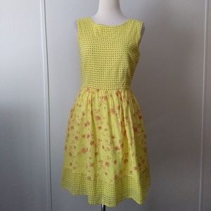 Yellow and pink dress